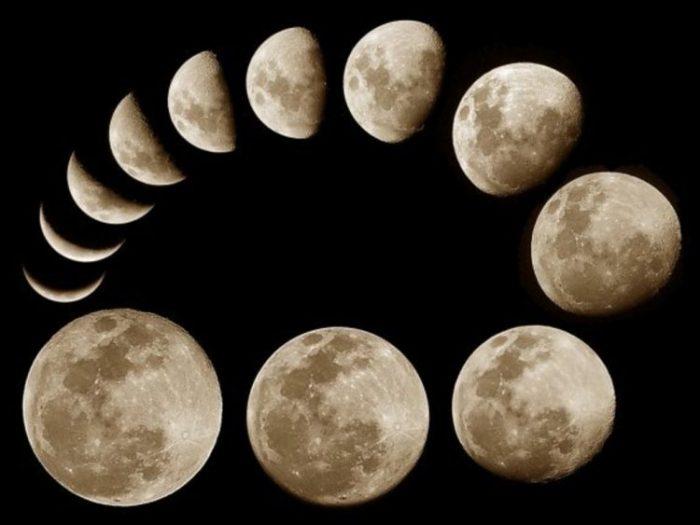 Положения луны картинки